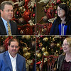 (Clockwise) Scott Bixler, president, Enid branch, NBC Oklahoma; Sarah Buffalo, personal banking representative, Enid branch, NBC Oklahoma; Donna Gannon, teller, Enid branch, NBC Oklahoma; Aaron Abbott, vice president, Enid branch, NBC Oklahoma, during an interview about the bank's Pay It Forward program Friday, December 6, 2019. (Billy Hefton / Enid News & Eagle)