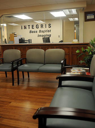 Integris Bass Baptist Health Center features a new imaging waiting room and MRI. Vicky Godding, director of radiology at Integris, has played an important role in the design and upgrading of the hospital's imaging equipment. (Staff Photo by BONNIE VCULEK)
