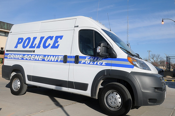 The Enid Police Department has a new Crime Scene Unit purchased from Jacksons of Enid. (Staff Photo by BONNIE VCULEK)