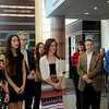Enid High School seniors, administrators and Enid Public School Foundation board members attend an plaque unveiling in the lobby of the University Center Thursday, Feb. 20, 2014. (Staff Photo by BONNIE VCULEK)