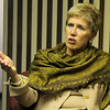 Dr. Janet Barresi, Oklahoma Superintendent of Schools, answers a question during an interview at the News & Eagle Thursday, Feb. 27, 2014. (Staff Photo by BONNIE VCULEK)