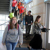 Enid High School students move to their next class at the University Center Thursday, Feb. 20, 2014. (Staff Photo by BONNIE VCULEK)