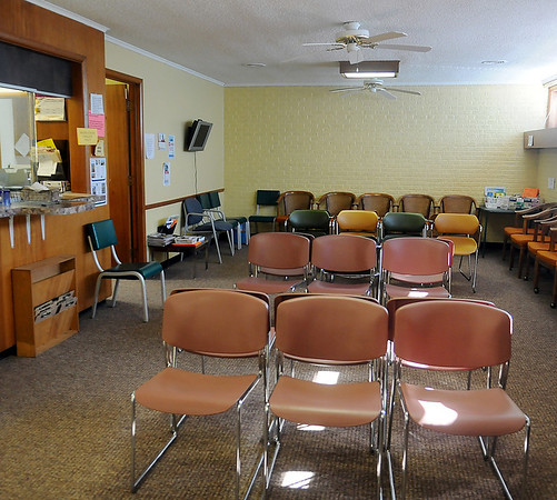Enid Community Clinic waiting room (Staff Photo by BONNIE VCULEK)