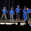 "Members of the Monroe Cubs dance to the tune of ""Five Little Monkeys"" during the Cherokee Strip Special Olympics Talent Show Tuesday at the Enid High School auditorium. (Staff Photo by BILLY HEFTON)"