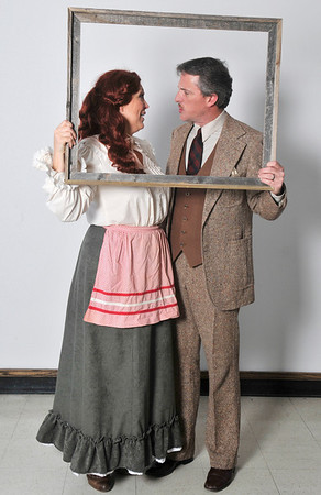 """Jill Patterson Phillips and Brett Wilenzick of the Gaslight Dinner production of """"The 39 Steps"""". (Staff Photo by BILLY HEFTON)"""
