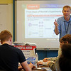 Craig Liddell instructs a biology class at Enid Public Schools' University Center Thursday, Feb. 20, 2014. (Staff Photo by BONNIE VCULEK)