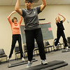 Mary Jo Hoffman, Lollie Hodgen and Sandy Gragg (from left) participate in a senior fitness class at the Senior Life Network in Oakwood Mall Friday, Feb. 14, 2014. (Staff Photo by BONNIE VCULEK)