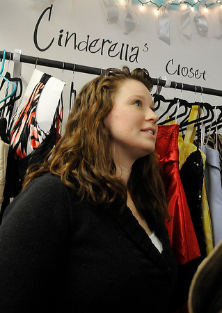 Shopkeeper, Chelsey Gillespie, of the Airman's Attic at Vance Air Force Base during an interview February 25. (Staff Photo by BILLY HEFTON)