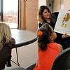 NWOSU Enid student, Noemi Gonzalez, reads a food themed book to kids in the Enid Public Schools 4 year old program on the NWOSU Enid campus February 4, 2016. (Billy Hefton / Enid News & Eagle)