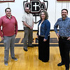 Oklahoma Bible Academy teachers, (left to right) Clay henderson, Ryan Reese, Janie Koch and head master Andy Wilkins Friday February 17, 2017. (Billy Hefton / Enid News & Eagle)