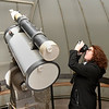Lynda Ozan, Architectural Historian/National Register Program Coordinator, snaps a picture inside the observatory at Enid High School during a tour Thursday Febraury 2, 2017. (Billy Hefton / Enid News & Eagle)