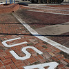 U.S.A. set into the bricks at the Helena Veteran's Memorial Saturday February 4, 2017. (Billy Hefton / Enid News & Eagle)