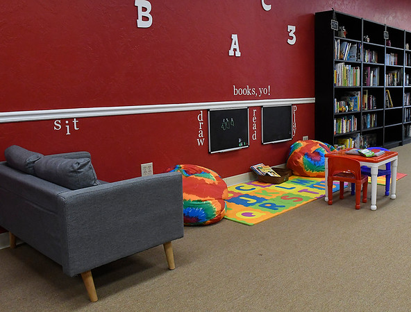 Children's area at A New Chapter bookstore Monday February 5, 2018. (Billy Hefton / Enid News & Eagle)