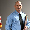 Fire Driver Mavick Courter says a few words after being named Enid Firefighter of the Year Thursday Feb. 21, 2019. (Billy Hefton / Enid News & Eagle)