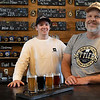 Thomas Rowe and Chandler Hofen at Settlers Brewing Co. February 3, 2020. The brewery announced that it will have its grand opening 4-10 p.m. Friday, Fenruary 7. (Billy Hefton / Enid News & Eagle)