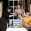 "(left to right) April Swinnea-Ogg, Katie Pearce and Janet Jones rehearse a scene of Gaslight Theater's production of ""Savannah Sipping Socity"" Thursday, February 11, 2021 at the Stride Bank Center. (Billy Hefton / Enid News & Eagle)"