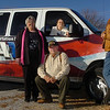 Officers of the Enid Disabled American Veterans, (left to right) Joan Stark, Jim Stark, Mary Pyle and Brett Pyle, stand in front of a van they are hoping to replace. The van is use to transport veterans to and from Oklahoma City for their doctor appointments free of charge. (Staff Photo by BILLY HEFTON)