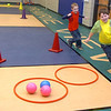 Prairie View first graders run off excess energy during a game of Four Square Monday on the first day of class after the holiday break. (Staff Photo by BILLY HEFTON)