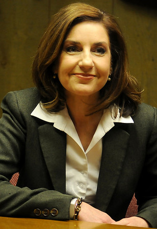 Joy Hofmeister, a Republican candidate for Oklahoma State Superintendent of Public Instruction, has been endorsed by Sen. Patrick Anderson. Hofmeister, a businesswoman and educator, formerly served on the Oklahoma State School Board Association. (Staff Photo by BONNIE VCULEK)