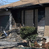 House at 513 S. Hoover that was involved in a house fire Sunday morning. (Staff Photo by BILLY HEFTON)