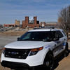 One of ten 2014 Ford Police Interceptors purschased by the Enid Police Department. Six of the vehicles were put into service Wednesday with the other four scheduled to be delivered in the next two weeks. (Staff Photo by BILLY HEFTON)
