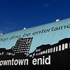 Main Street Enid logo painted on a building near the intersection of Garriott & Grand. (Staff Photo by BILLY HEFTON)