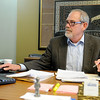 Jon Blankenship, President and CEO of the Greater Enid Chamber of Commerce, checks his schedule in his office at 210 Kenwood Blvd. Wednesday, Jan. 22, 2014. (Staff Photo by BONNIE VCULEK)