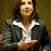 Joy Hofmeister answers a question during an interview at the News & Eagle Tuesday, Jan. 28, 2014. Hofmeister will seek the Republican nomination for Oklahoma State Superintendent of Public Instruction. (Staff Photo by BONNIE VCULEK)