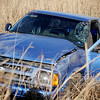 Life EMS transported the driver of this Chevrolet pick-up to a local hospital after he lost control of his vehicle and rolled it on S. Leona Mitchell Sunday, Jan. 19, 2014. Oklahoma Highway Patrol Troop J, Garfield County Sheriff Department, Enid Fire Department, and Waukomis Fire & Rescue also responded to the scene. (Staff Photo by BONNIE VCULEK)