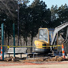 Demolition at a Meodowlake Park playground area continues near the south pavilion Wednesday, Jan. 8, 2014. (Staff Photo by BONNIE VCULEK)