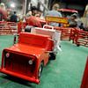 Miniature Diamond Corrals and toys, created by The Happy Toy Maker Jerry Sims, from Happy, Texas, are on static display as guests attend the 18th annual KNID Agrifest at the Chisholm Trail Expo Center Friday, Jan. 10, 2014. (Staff Photo by BONNIE VCULEK)
