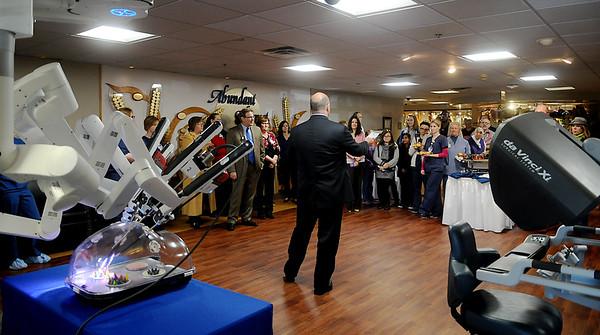 Robotic surgery receptiion at Integris Bass Baptist Health Center Thursday, Jan. 15, 2015. (Staff Photo by BONNIE VCULEK)