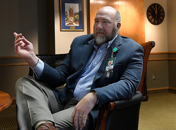 Eddie Herrman, administrator at Integris Bass Baptist Health Center, during an interview January 19, 2017. (Billy Hefton / Enid News & Eagle)