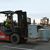 Transformers are unloaded and stage in the Oakwood Mall parking lot Thursday January 12, 2017 in preperation for th eforecast ice storm. (Billy Hefton / Enid News & Eagle)