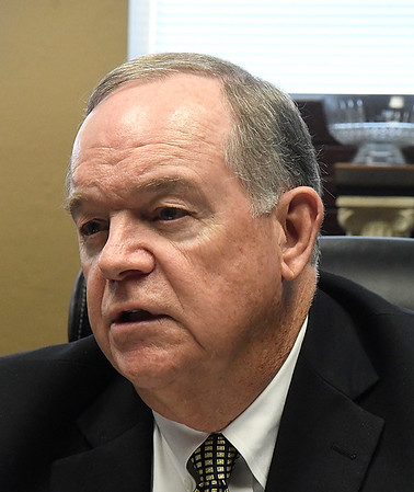 Stan Tatum, CEO St. Mary's Regional Medical Center, talks the challenges facing hospitals during an interview January 19, 2017. (Billy Hefton / Enid News & Eagle)