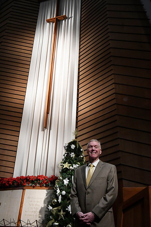 Tom Stanley, new minister at Central Christian Church. (Billy Hefton / Enid News & Eagle)