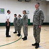 1st Lt. Doug Griffith instructs Civil Air Patrol cadets Monday, January 13, 2019 at Emerson Middle School. (Billy Hefton / Enid News & Eagle)