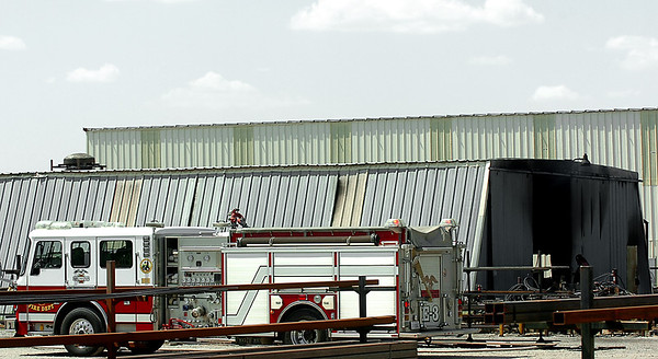 Units of the Enid Fire Department responded to a fire call at the WAKO manufacturing company Monday. (Staff Photo by BILLY HEFTON)