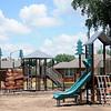 New playground equipment is being installed at Champlin Park, near the intersection of Owen K. Garriott and Van Buren (U.S. 412 and 81 Highway). (Staff Photo by BONNIE VCULEK)
