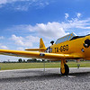 """A T-6 """"Texan"""" sits at the airpark in front of the Vance Air Force Base visitors center Tuesday. The """"Texan"""" serves at Vance from 1948-1953 following the reactivation of the base. (Staff Photo by BILLY HEFTON)"""