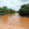 Rain swollen creeks exceed their banks after another 2-5 inches of rain fell overnight across Garfield County. (Staff Photo by BONNIE VCULEK)