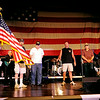"""International Elvis Entertainer Marshall Matthews and The Memphis Kings perform """"The American Trilogy"""" as they honor American Veterans at Enid Event Center and Convention Hall Saturday, July 12, 2014. (Staff Photo by BONNIE VCULEK)"""