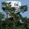 Enid Water Tower during the Fourth of July Fishing Derby at Meadowlake Park (Staff Photo by BONNIE VCULEK)