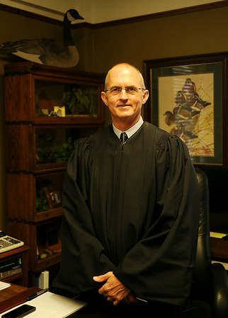 District Judge Paul K. Woodward has been named the presiding judge of the area's nine district counties, a position once held by Judge Ray Dean Linder. (Staff Photo by BONNIE VCULEK)