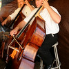 Jeff Cetch (right) plays the bass during the Enid Symphony Orchestra performance at Meadowlake Park Friday, July 4, 2014. (Staff Photo by BONNIE VCULEK)