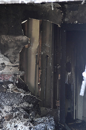 Interior of a house at 205 E Hickory after a fire Saturday July 1, 2017. (Billy Hefton / Enid News & Eagle)