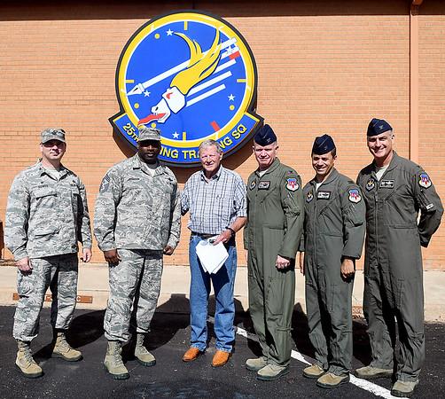Inhofe with VAFB Commanders
