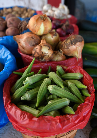Vegetables at the K & S Produce stand east of Ringwood Wednesday July 25, 2018. (Billy Hefton / Enid News & Eagle)