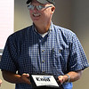Sgt. Quent Tubbs during his retirement luncheon Thursday July 26, 2018 at the Enid police Department. (Billy Hefton / Enid News & Eagle)