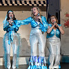 "(left to right) Angela Lyons, Jill Ruding and Cathy Nulph rehearse a song from the Gaslight Theater production of ""Mamma Mia"" Wednesday, July 10, 2019. (Billy Hefton / Enid News & Eagle)"